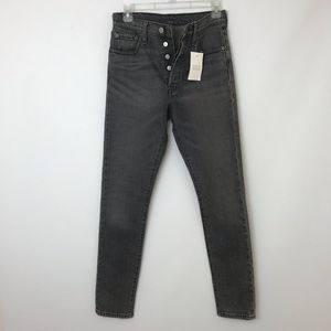 New! LEVI'S 501 Button Fly Skinny Highrise Jean 25